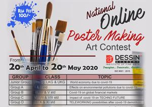 National Online Poster Making Art Contest April-May 2020
