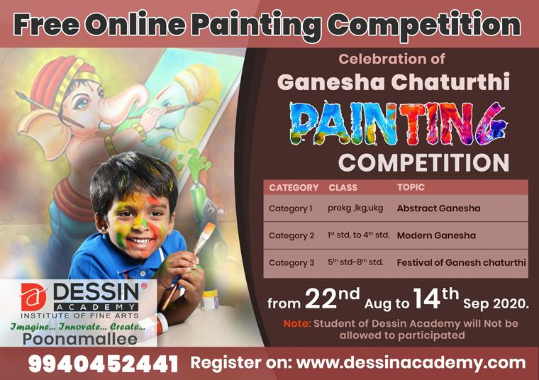 National Online Poster Making Art Competition, July - August 2020, Dessin Academy