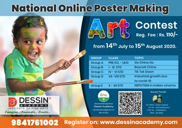 National Online Poster Making Art Competition, July - August 2020
