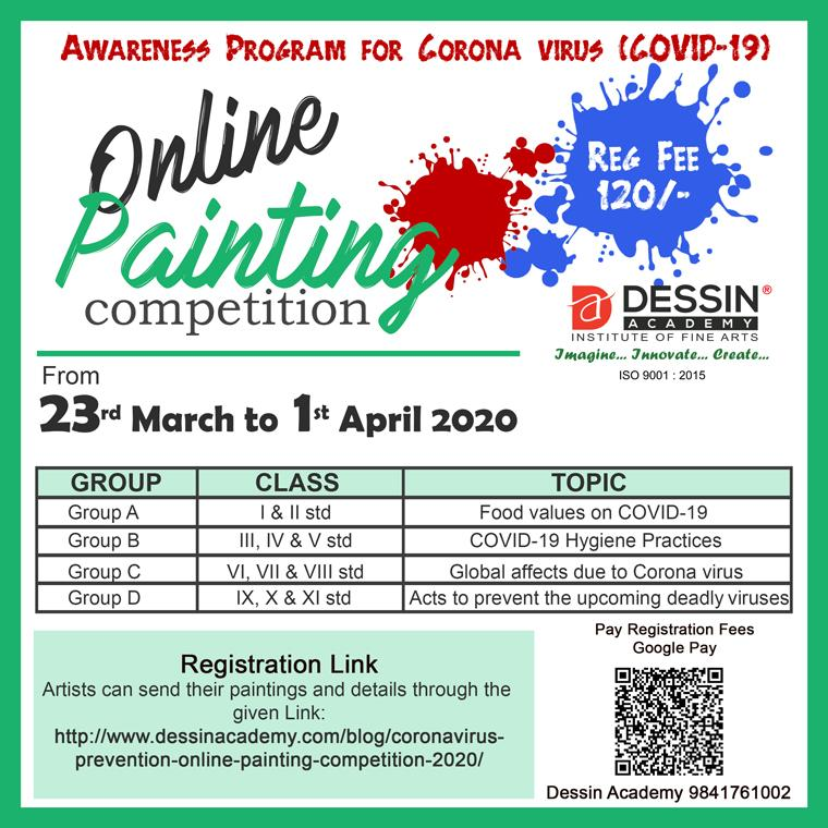National Online Painting Competition March-April 2020 - Dessin Academy