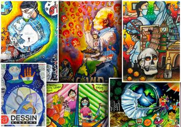 Results of Online painting competition in India April 2020