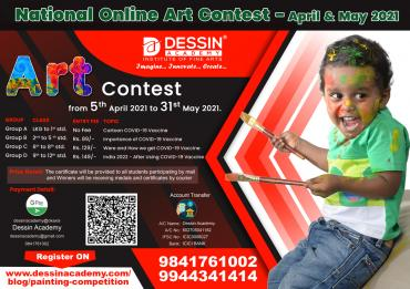 National Online Art Contest April and May 2021 | Drawing and Painting Competition in India | COVID-19 Vaccine | For School Kids / Cheldren