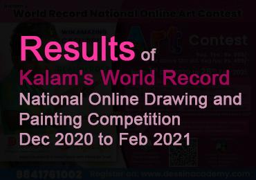 RESULTS of Kalam's World Record National Online Art Contest 2020- 2021