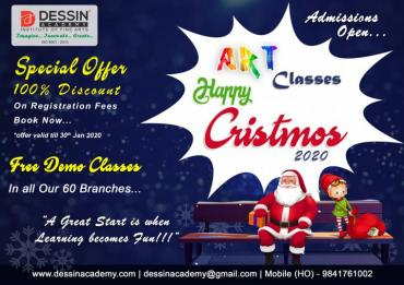 Christmas offer for the admission of Online Art Classes