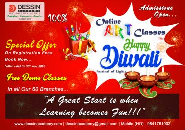 Diwali offer the admission of online drawing and painting classes