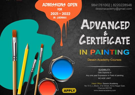 Advanced drawing and pianting Classes in Chennai, Madurai, Trichy, Karaikudi, Bangalore & Mumbai | Art classes