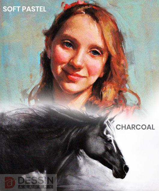 Classes For Soft Pastel and Charcoal. Get started on Soft Pastels and Charcoal For Beginners
