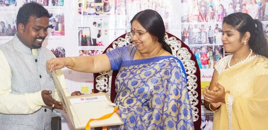 Ex-vice chancellor Veena E Gayathri Opening a diploma and certificate Course Catlock